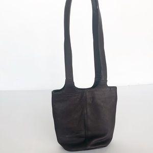 FRYE dark brown leather hobo bag